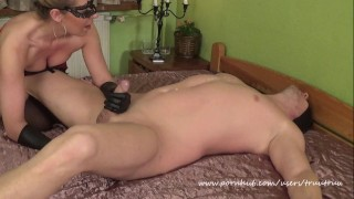 Amateur Couple Femdom Sex.(69, Prostate Massage, Face Sitting, Huge Squirt)  prostate massage face sitting facesitting truutruu femdom huge squirt handjob squirting orgasm handjob latex gloves adult toys wax squirt huge toys candle wax