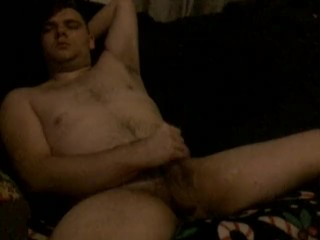Hairy Teen watches porn and Cums