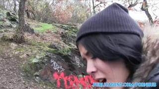 The in woods chick publicagent has sex emo style sucking