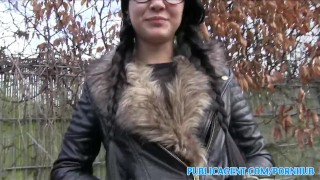 PublicAgent Emo chick has sex in the woods Big tits