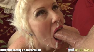 Cougar Assfucked by new Son in Law Boobs handjob