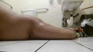 Tiny Dick Chub Boy Covered In Piss In Public Restroom Hung orgasm