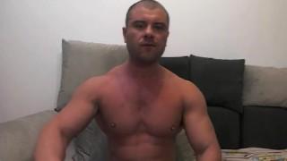 muscle jock shoots load on cam Serviced huge