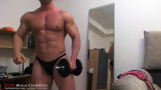 Muscle Chat Spy Cam Jerk Wrestling athlete