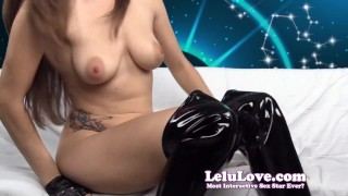 Lelu Love-Worship Your Leo Queen's Asshole  lelu love high heels homemade boots femdom amateur domination gloves brunette shaved instruction hd natural tits solo encouragement puckering asshole