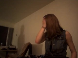 Amature redhead In jean thong gets a good fucking