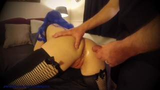 Rewarded with Anal after wife's new toy makes her Squirt!!