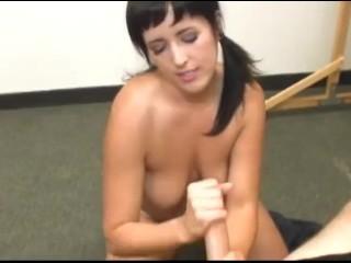 Porn Video Russian Home Fucking, Busty schoolgirl gets covered with semen Cumshot Handjob Teen