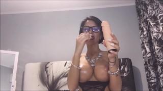 Anisyia from Anisyia.com sloppy blowjob secretary cosplay Deepthroat amateur