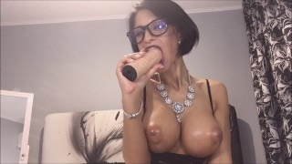 Anisyia from Anisyia.com sloppy blowjob secretary cosplay porno