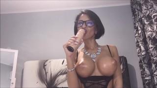 Anisyia from Anisyia.com sloppy blowjob secretary cosplay Cumshot oral