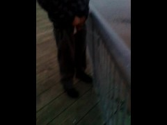 New NJ Piss Vid! Ade Pisses off a dock in Central Jersey