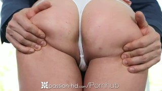 Passion-HD - All aboard the dick riding train for busty blonde Brooke Wylde