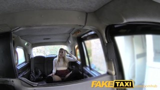 FakeTaxi Escort needs cock after close call Public bubble