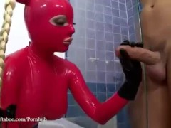 Latex Sex Goddess fucks her master good and Hard