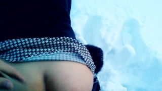 Hot Blowjob and Sex in outdoor SNOW porno
