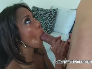 Sultry slut Adriana Malao takes a dick in her ebony twat