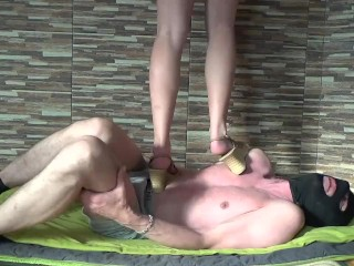 Xvideos Mia Very Cruel Wedges Trampling Stomping Jumping And Stands On Head Of A