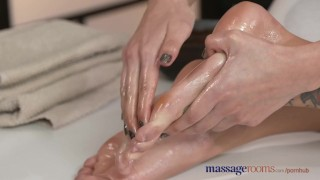 Preview 3 of Massage Rooms Beautiful oiled lesbians finger fuck and enjoy intense orgasm