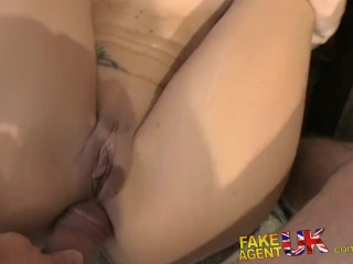 FakeAgentUK Anal acrobatics from Italian babe in porn casting