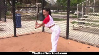 TheRealWorkout Busty Latina Loves To Play with Balls