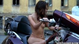 Horny Biker Girl Gets Off Solo