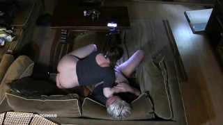 Twice oral passionate creampie and he  creampie monster came riding amateur