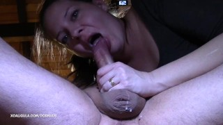 Oral and twice he  creampie passionate creampie monster came azzurra couple