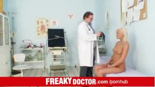 Eliss Fire an exam at unlicensed senior doctor European penetration
