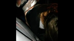 Young sexy girl sucks and gets fuck in car
