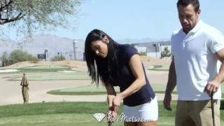 PureMature - Audrey Bitoni gets a hole-in-one with Johnny Asmr mother