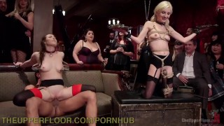 Piper Perri Turned Sex Slave  lingerie slave tease bdsm submission humiliation party blonde small tits skinny big dick domination kink brunette petite rough bondage crowd suspension theupperfloor