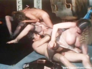 Classic Orgy In Vintage Theater