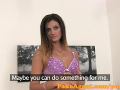 FakeAgent Skinny babe wants to be model in casting