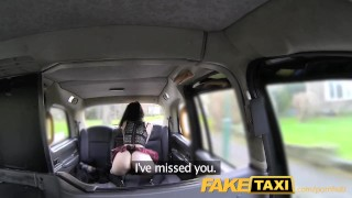 FakeTaxi lady in stockings gets creampied porno