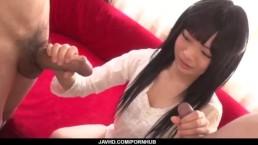 Moka Minaduki gets cum on face after a good blowjob