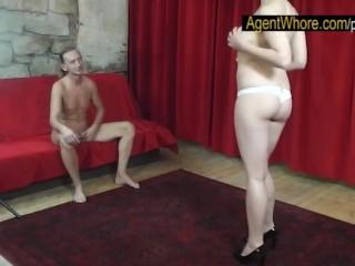 Beautiful teen girl naked bent overt