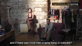 Sexy guy does interview about porn in backstage clip porno