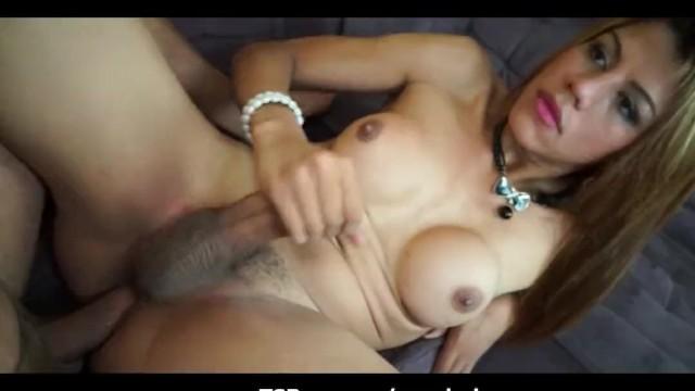 sucking huge Busty latina cock tranny