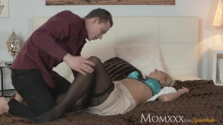 She on husband is boss office blonde office with glad cheated junior mom sucking czech