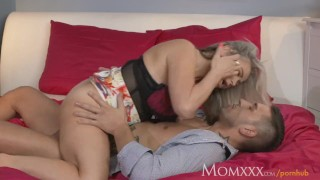 Preview 6 of MOM Plump and busty proper milf next door tit wanks her neighbours cock