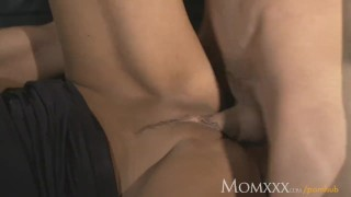 MOM Man eater older woman does what she wants with young stud Ass kissing