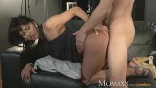 MOM Man eater older woman does what she wants with young stud Perky sensual