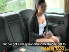 FakeTaxi Tight pussy gets a deep fucking in London taxi cab