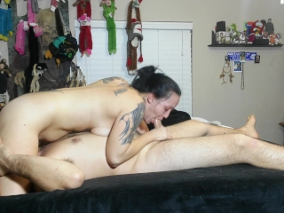 Double blowjob swallow