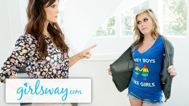 Love hate sex - Girlsway sasha heart hate fucks her step-mommy