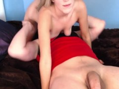 AMATEUR BLONDE ENJOYS CREAMPIE FINISH!