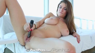 PornPros - Guy puts his dick between busty Dillion Carters perfect boobs