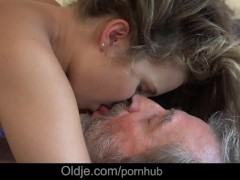 Utterly sweet girl Bunny Babe gives grandpa the sex of his life