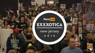 Megan Rain & Tia Kai at eXXXotica 2015 with Pornhub Aria PornhubTV porno